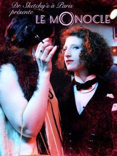 "★Dr. Sketchy★, Paris : ""Le Monocle"". Organisatrice : Stella Polaris  http://stellapolaris.fr/ et http://www.drsketchy.fr/"