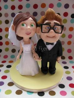 My favorite movie. Porcelain Clay, Cold Porcelain, Wedding Cake Toppers, Wedding Cakes, Cute Clay, Pasta Flexible, Clay Charms, Eat Cake, Finding Nemo
