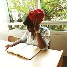 Stretch Headwrap on & knowledge seeking ❇ #raynajosephinewraps