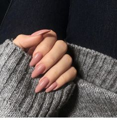 40 Charming Nude nails Art Designs To Try This summer - Page 3 of 40 - VimTopic Almond Nails Pink, Almond Acrylic Nails, Best Acrylic Nails, Yellow Nails, Purple Nails, Nude Nails, Nail Manicure, Diamond Nails, Dream Nails