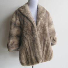 Vintage 40s Glamour Girl Real Mink Fur Evening by hillbillyfilly, $145.00