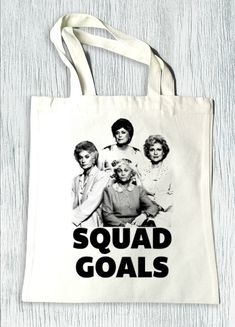 Le Golden Girls Squad objectifs image drôle sac sac par QBeeSupply