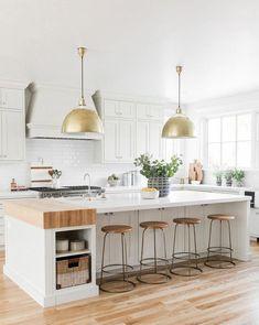 The kitchen that is top-notch white kitchen , modern kitchen , kitchen design ideas! Home Decor Kitchen, New Kitchen, Home Kitchens, Kitchen Ideas, Awesome Kitchen, Kitchen Inspiration, Kitchen Hacks, Dream Kitchens, Kitchen Layout