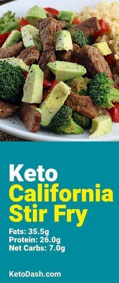 Trying this California Stir Fry and it is delicious. What a great keto recipe. #keto #ketorecipes #lowcarb #lowcarbrecipes #healthyeating #healthyrecipes #diabeticfriendly #lowcarbdiet #ketodiet #ketogenicdiet