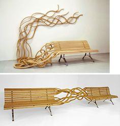 Spaghetti Bench par le designer Pablo Reinoso