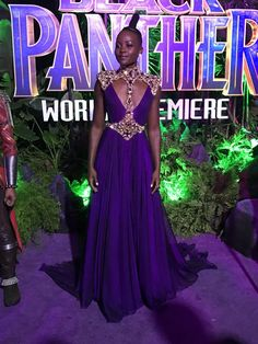 Lupita at the Premiere of the Black Panther