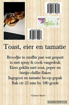 28 dae eetplan - Toast, eier en tamatie 28 Day Meal Plan - Toast, egg and tomato Clean Eating Recipes, Diet Recipes, Recipies, Easy Deserts To Make, 28 Dae Dieet, Tomato Breakfast, Breakfast Recipes, Irish Lamb Stew, Dieet Plan