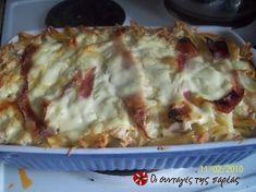 Σουφλέ με πένες και κοτόπουλο #sintagespareas Cookbook Recipes, Cooking Recipes, Lasagna, Cabbage, Chicken, Vegetables, Ethnic Recipes, Food, Drinking