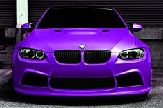 Purple BMW...  Davids dream car for Ayla