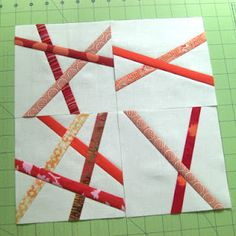 Empire's Block of the Month: September: Orange Pick-Up Sticks Scrappy Quilts, Easy Quilts, Mini Quilts, Quilting Tips, Quilting Tutorials, Quilting Designs, Quilting Projects, Art Quilting, Scrap Quilt Patterns