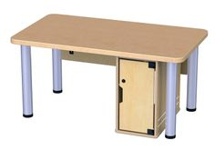 Jonti-Craft Truemodern Ready Table with locking computer bay and modesty panel. Customize this table with several available accessories.