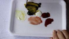 Pintura em tecido -  Copo de leite (caule e folha) parte 1.