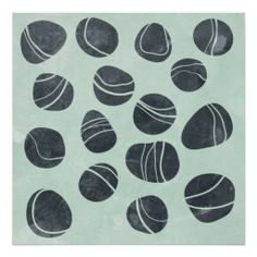 'Pebbles' Art Print by Nic Squirrell Abstract Shapes, Abstract Pattern, Rock And Pebbles, Black Pebbles, Stamp Carving, Fabric Stamping, Sticks And Stones, Sgraffito, Pebble Art