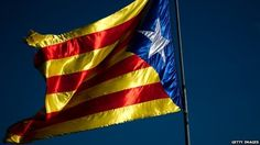 BBC News - Eurozone crisis: Catalonia's place in Spain. On 11 September this year, I watched as Barcelona was submerged in a lake of Catalonia's colours - red and yellow.