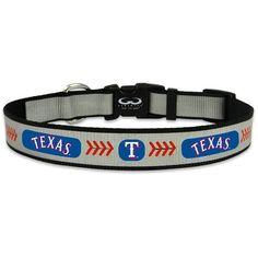 Texas Rangers Reflective Nylon Baseball Collar Large  - MLB.com Shop