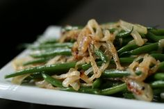 Week of Menus: Green Beans with Caramelized Onions: Thanksgiving Recipe #12