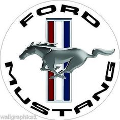 Ford Mustang Tri Bar Circle Wall Graphic Man Cave Garage Decor Decal Cling  - BUY NOW ONLY 19.99