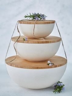 Use these beautiful stackable storage bowls from Denmark to organise your cupboards or fridge.
