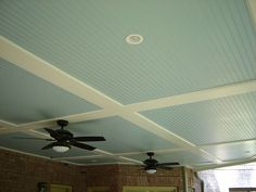 ceiling for basement? Paint beadboard white and joists natural