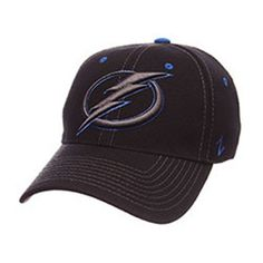 NHL Tampa Bay Lightning Black Element Stretch Fit Hat - Exclusive Series [M/L] - The Skybox Store
