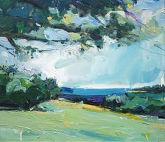 """Landscape at Portsea"", 50X60cm, oil on linen. #australia #NSW #arts #emergingartist"