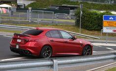Alfa Romeo Giulia GTA: il sogno diventa realtà? al Nurburgring immortalata una Giulia Quadrifoglio con mega alettone posteriore.