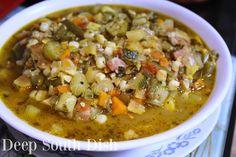 Deep South Dish: Summer Vegetable Gumbo - Garden in a Pot Jambalaya, Beignets, Soup Recipes, Cooking Recipes, Vegan Recipes, Supper Recipes, Bread Recipes, Deep South Dish, Salt Pork