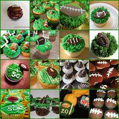 So many football cupcake ideas!