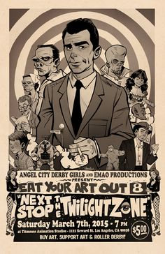 Project: Twilight Zone Poster : Eat Your Art Out 8   Illustrator: Brett Parson #popculture