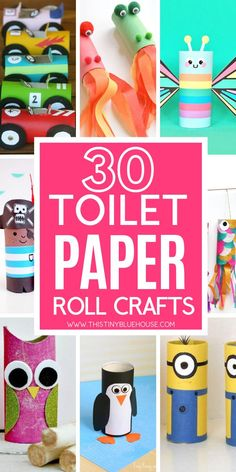 Have hours of crafting fun with these 30 adorable and fun toilet paper roll crafts for kids. Don't recycle those cardboard tubes! Instead, get crafty with one of these super easy tutorials. crafts for kids easy 30 Fun Toilet Paper Roll Crafts For Kids Cardboard Tube Crafts, Toilet Paper Roll Crafts, Paper Crafts For Kids, Crafts For Kids To Make, Paper Crafting, Recycled Crafts For Kids, Kids Diy, Quick Crafts, Toilet Paper Rolls