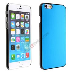 Luxury Brushed Metal Aluminum Hard Back Cover Case for iPhone 6 4.7inch - Light blue US$5.69