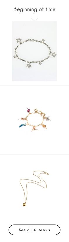 """""""Beginning of time"""" by taborbot ❤ liked on Polyvore featuring jewelry, bracelets, accessories, platinum bangles, shiny charm, charm bracelet, charm bracelet bangle, polish jewelry, necklaces and fillers"""
