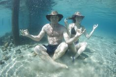 Some underwater therapy with SolAir hats!