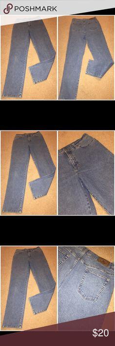 Ralph Lauren cotton denim jeans Sz 10 081317-32 drnerds  Ralph Lauren cotton denim jeans, Sz 10 Ralph Lauren 98% cotton/2% spandex denim jeans w/ high waist and tapered legs, Sz 10 Waist - 30 Inseam -31 Ralph Lauren Jeans Straight Leg