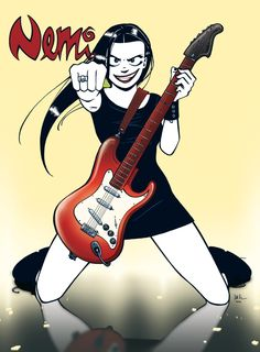 Nemi is a Norwegian comic strip. Nemi is a young goth woman and she's the protagonist in the strip.