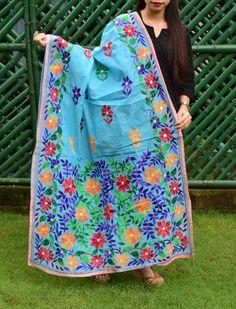 Phulkari Embroidery, Embroidery Motifs, Hand Embroidery Designs, Indian Gowns Dresses, Ladies Dresses, Phulkari Suit, Kalamkari Saree, Tree Decals, Herringbone Stitch