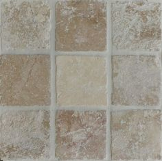 Brown Brown Tumbled Travertine Bathroom Tiles