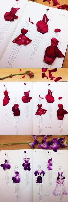From Petals to Dresses - Interview with Fashion Artist Grace Ciao! - Praise Wedding : From Petals to Dresses – Interview with Fashion Artist Grace Ciao! Grace Ciao, Illustration Blume, Illustration Mode, Design Illustrations, Fashion Design Sketchbook, Fashion Sketches, Drawing Fashion, Fashion Illustration Dresses, Dress Sketches