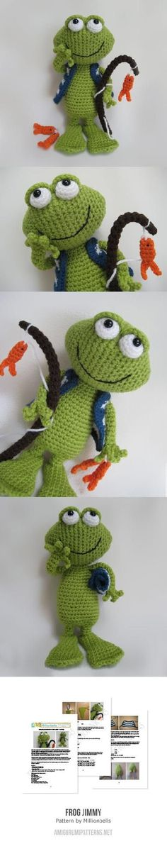 Frog Jimmy amigurumi pattern by Millionbells