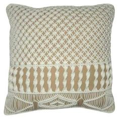 Nate Berkus Crocheted Beige Pillow