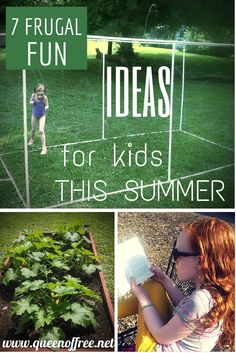Check out these great ideas to keep summer busy and fun, but your costs super low!