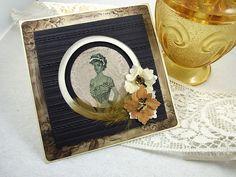Handmade Shadow Box Card - Elegance