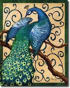 Cuadro Majestic Peacock II - Brent, Paul