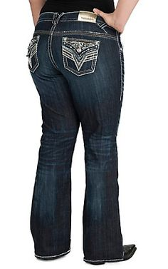 vigoss ® plus size medium wash flare jeans - maurices