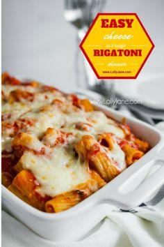 lolly jane cheese rigatoni recipe hearty baked easy cheese rigatoni ...