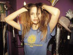 80s-90s-supermodels: 19 year old Angelina Jolie, 1994. V I C I O U S L Y // C Y D