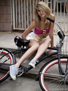 wow girl on bike