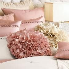 Fu Fu Frilly pink pillows