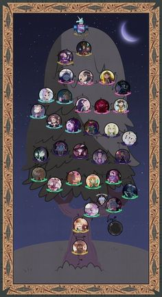 Night version of Butterfly Family Genealogy Tree. Day Version: jgss0109.deviantart.com/art/Ho…