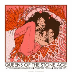QUEENS OF THE STONE AGE Boston 2005 Handbill Postcard poster Jermaine Rogers